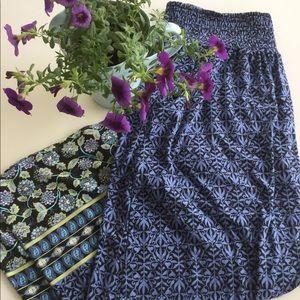 NWT J.Jill Maxi Boho Skirt